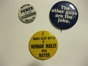 New York City: the 51st State - Mailer–Breslin campaign buttons, 1969