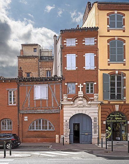 Saint Dominic's House in Toulouse 7, 8 place du Parlement Chapelle, Toulouse.jpg