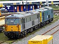 73107 and 73208 at Tonbridge West Yard (13816391253).jpg