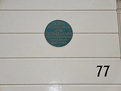 Photo of Wilhelmina blue plaque