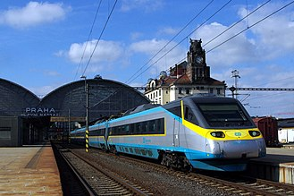 Transport in the Czech Republic - Pendolino 680 in Prague Main railway station