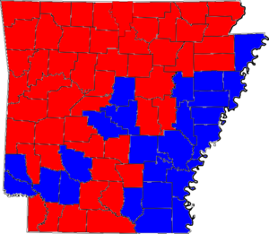 Arkansas gubernatorial election, 1980 - Image: 80ARGov Counties