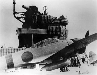 Attack on Pearl Harbor - An Imperial Japanese Navy Mitsubishi A6M Zero fighter on the aircraft carrier Akagi