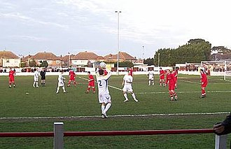 Ramsgate F.C. - Ramsgate (red shirts) take on AFC Wimbledon in December 2007