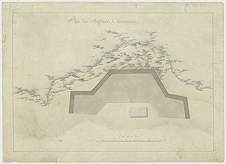 Chavonnes Battery - Sketch of the Chavonnes battery
