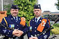 AM Pat Cleary and Sgt Ray Grange of the Air Corps Pipe Band (4868070343).jpg