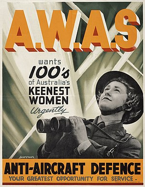 Australian Women's Army Service -  Recruitment poster