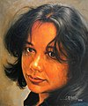 A PIECE OF AN ORANGE SUN - OIL PAINTING BY RAJASEKHARAN.jpg