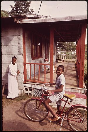 Johns Island, South Carolina - A boy and his bike