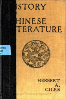 A history of Chinese literature - Giles.djvu