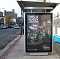 A striking Guinness ad on a Ringsend Road bus shelter - geograph.org.uk - 2175936.jpg