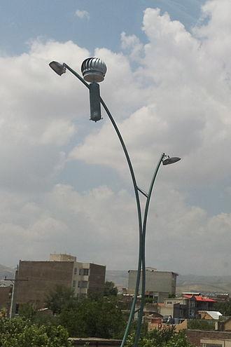 Street light - A wind powered street light in Urmia, Iran
