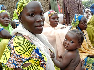 A woman attends a health education session in northern Nigeria (8406369172)