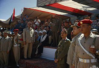 Abdullah al-Sallal - Abdullah al-Sallal in a military display March 1963