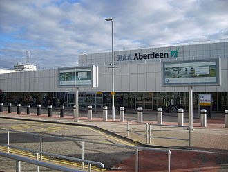 Aberdeen Airport - Image: Aberdeen Airport terminal close up 23 03 11