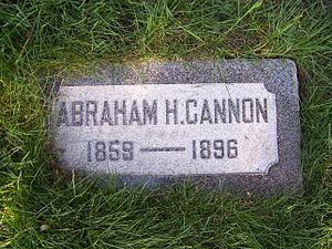Abraham H. Cannon - Image: Abraham H Cannon Grave