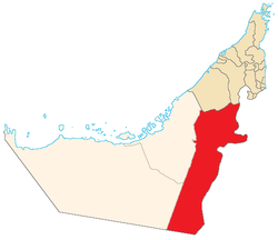 Location of the Eastern Region in the Emirate of Abu Dhabi[2]