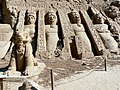 Abu Simbel temple in sand.JPG