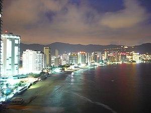 Acapulco bay at night.