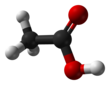 Ball and stick model of acetic acid
