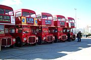 Routemaster buses at Acton Depot.