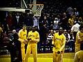 Adam Morrison Kobe Bryant Lamar Odom warming up.jpg