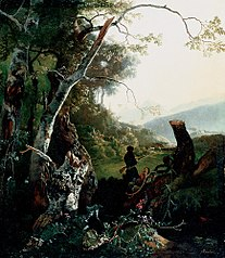 Landscape with Hunters