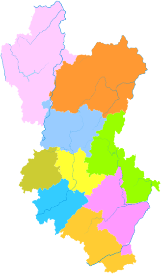 Qujing - Image: Administrative Division Qujing