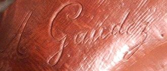 Adrien Étienne Gaudez - The signature of Adrien Étienne Gaudez