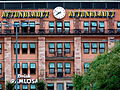 Advertisement Clock of the Swedish Tabloit Newspaper Aftonbladet on the building of the Ministry of the Environment in Stockholm Sweden (6089061390).jpg