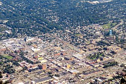 Hempstead in 2019, as seen from the air.