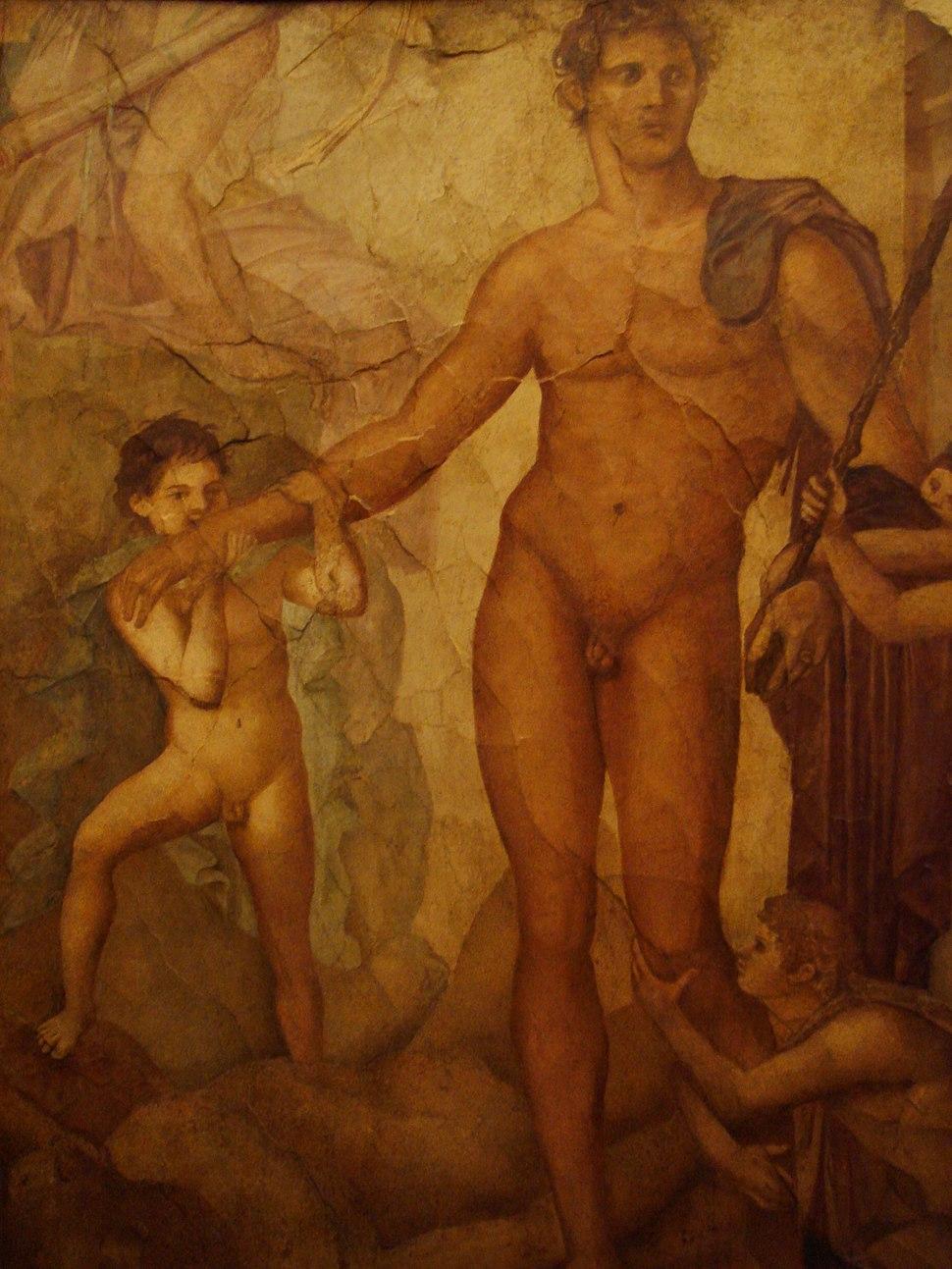 Affreschi romani - Ercolano - Teseo liberatore1