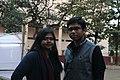 Afifa Afrin and Ankan Ghosh Dastider at Dhaka Wikipedia meet-up, December 2017.jpg