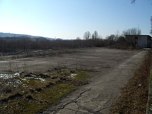 Aircraft parking area of former Trier Air Base 2012.JPG