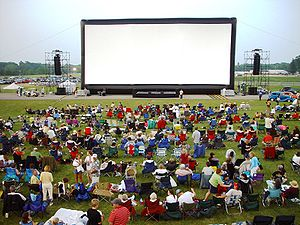 Projection screen - Inflatable movie screen