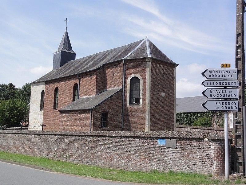 Aisonville-et-Bernoville (Aisne) église du village