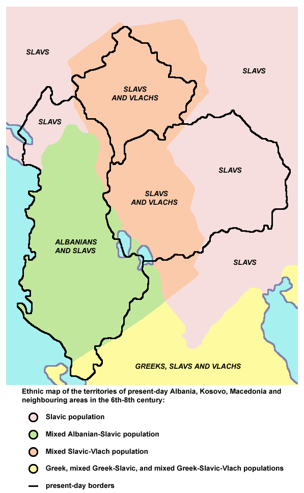 Albania kosovo macedonia 6 8 century