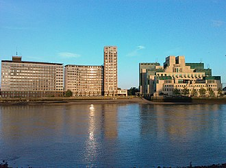 Albert Embankment - Albert Embankment, including the SIS Building (right), pictured from Millbank in 2008.