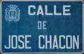 Alcalá de Henares (RPS 05-03-2017) Calle José Chacón, placa indicativa.png