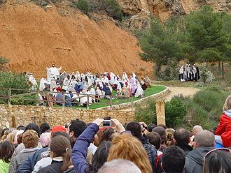 Alcorisa - Drama de la Cruz, Monte Calvario, Alcorisa. Part of Ruta del Tambor y el Bombo