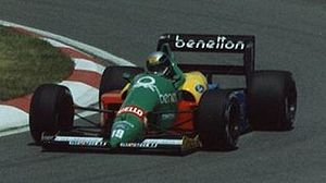 Alessandro Nannini - Nannini driving for Benetton at the 1988 Canadian Grand Prix.