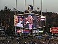 Alex Trebek, St. Louis Cardinals 0, Los Angeles Dodgers 0, Dodger Stadium, Los Angeles, California (14517934735).jpg