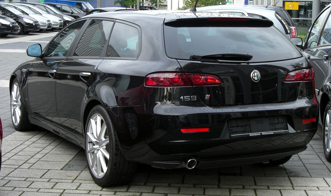 file alfa romeo 159ti sport wagon rear jpg wikimedia commons. Black Bedroom Furniture Sets. Home Design Ideas