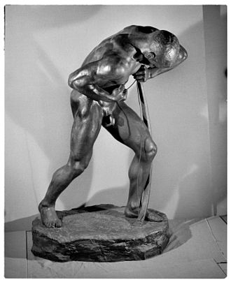 Alfred Marzolff - L'Archer sculpture by Marzolff