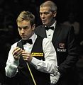 Ali Carter and Jan Verhaas at Snooker German Masters (DerHexer) 2013-02-02 02.jpg