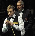 Ali Carter and Jan Verhaas at Snooker German Masters (DerHexer) 2013-02-02 02.jpg