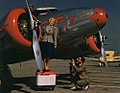 Alice Faye and Photographer with Lockheed 12A Electra Junior (8596148914).jpg