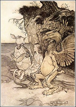 Alice in Wonderland by Arthur Rackham - 13 - That's very curious