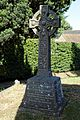 All Saint's Church Chillenden Kent England - churchyard memorial cross.jpg