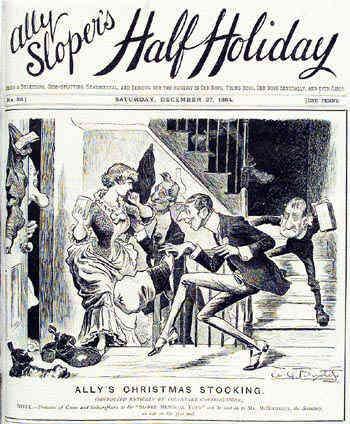 Ally Sloper's Half Holiday (front cover - 27 December 1884)